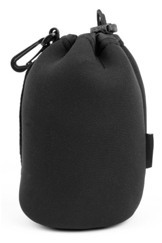 DURAGADGET Large Black Neoprene Padded Carry Case - Compatible with Lexip Gaming Mouse