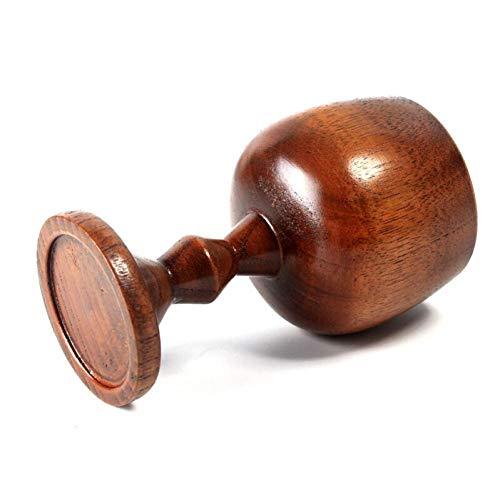 PiniceCore 120 Weinlese-hölzernen Cup Wein-Becher Handgefertigte Holz-Bierkrug Bar Dining Trinkbecher Klassisches Holz Tassen Trinkgefäß Geschenk