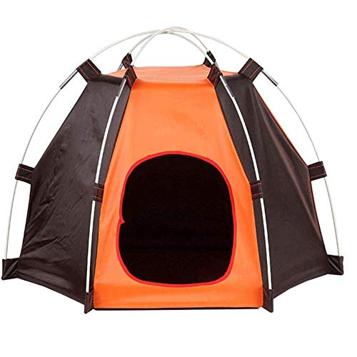 Portable Detachable Pet Dog Fence Tent Outdoor Waterproof Pet Cat Folding Kennel Tent House Durable (Color : Color 1, Size : 60X55X65CM)