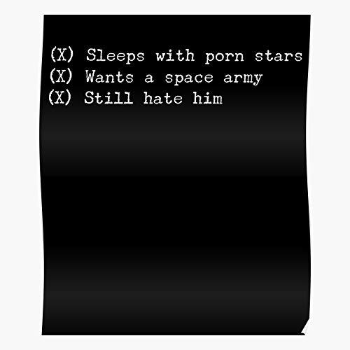 fashionAAA Trump Space Stars and Army Porn Poster, Das eindrucksvollste und stilvollste Poster für Innendekoration, das derzeit erhältlich ist