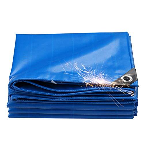 GUOTarpaulin& Feuille bleue polyester Bâche couvre-sol Tente Sous-couche de couverture de piscine for le camping et de plein air - 100% étanche et protégée contre les UV, épaisseur 0,45 mm, 400 g / m²
