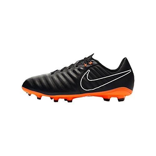 Nike Jr Legend 7 Academy FG, Botas de fútbol, Negro (Negro/Blanco/Naranja Total 080), 28.5 EU