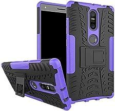 Lenovo Phab 2 Plus -Heavy Duty Armor Hybrid ShockProof Hard Back Case Cover -Purple