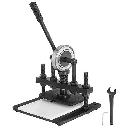 VEVOR Máquina de Estampado de Cuero Máquina de Corte de Cuero Manual Negra Máquina de Corte de Cuero para Varios Materiales Máquina de Corte de Cuero Manual 200x140 mm Superior Platen