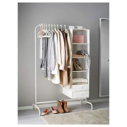 Ikea Mulig 601.794.34 - Appendiabiti bianco, 99 x 46 cm