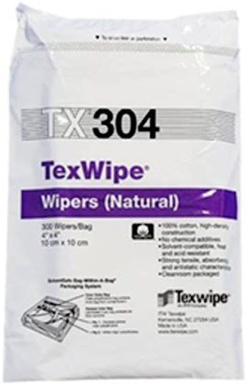 Texwipe TX304 CLOTH WIPE 4 X4  PKG 300 TEXWIPE
