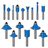 ZokMok 15 Pieces 1/4 Shank Router Bits, Beginners Woodworking Router...