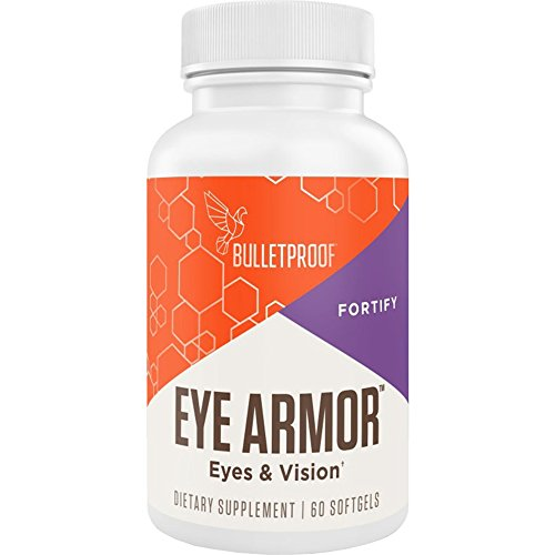 Bulletproof Eye Armor with Lutein and Antioxidants in Brain Octane MCT Oil Help Strengthen and Protect Your Eyes from Blue Light, 60 Softgels