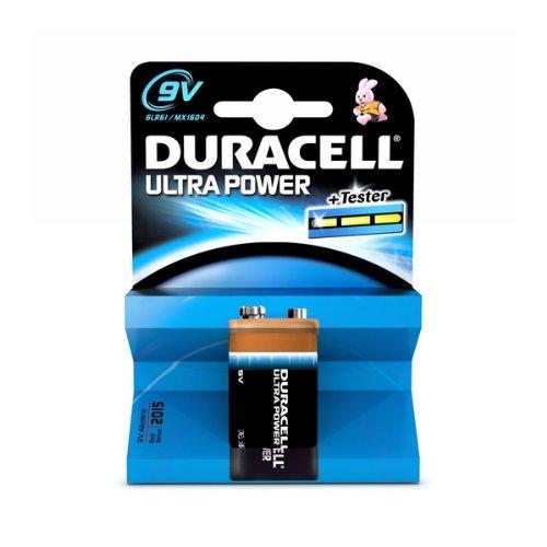 Duracell Batterie Ultra 9 Volt-Block (6LR61) im 1er Pack