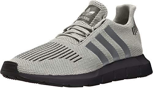 adidas Originals Men's Swift Run Hiking Shoe, raw White/Grey Three/core Black, 4 M US