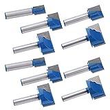 F Fityle Satz Von 10 CNC Router Gravur Holzbearbeitung 3D V Nut Bit 8mm 5/16 Zoll Schaft Werkzeuge