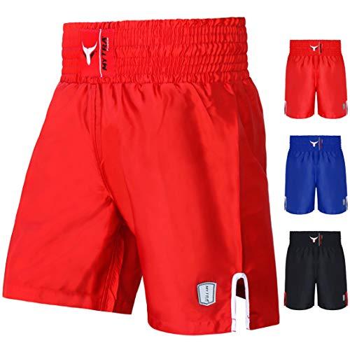 Mytra Fusion Satin Boxing Shorts, MMA Shorts, Combat Shorts, Ring Shorts, Training Shorts (Red, 2X-Large)