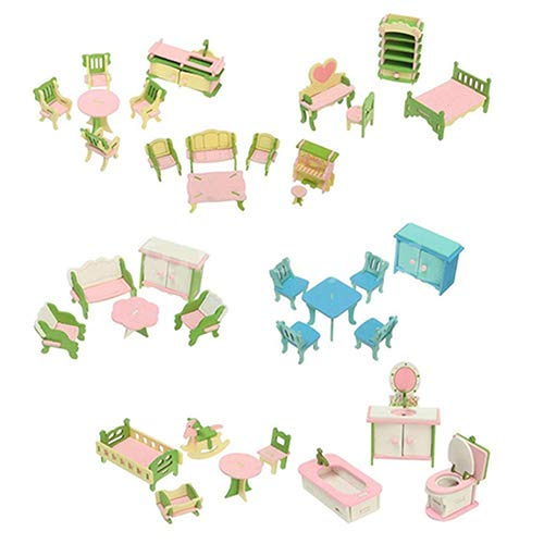 lightclub Wooden Miniature Doll Play House Accessory Furniture Room Set Toy Xmas Gift for Child Kids Kitchen -  5132VI5MIJLMY6T