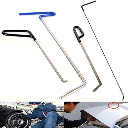 JMgist Rods Tools Hail Repair Kit Paintless Dent Removal Puller Sets Car Door Dings Repair Hand Tools (4 Pieces)