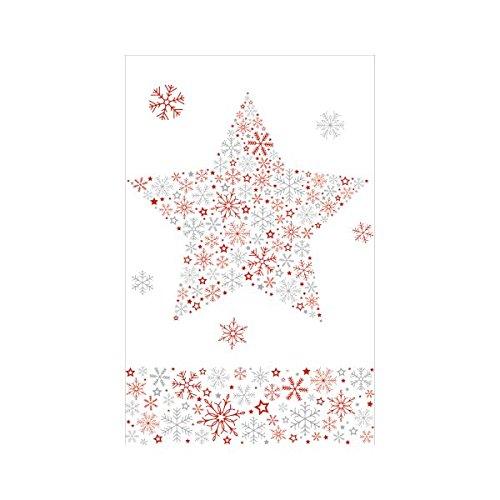 Mantel de Navidad estampado Susy Card 40003245, 1unidad, plastificado, 80x 80cm, diseño: Frozen star roja