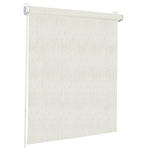 Rolmaxxx ROLLMAXXX Rollos Lichtdurchlässigrollo Fensterrollo Klemmfix ohne Bohren (70 x 220 cm, beige Melange)
