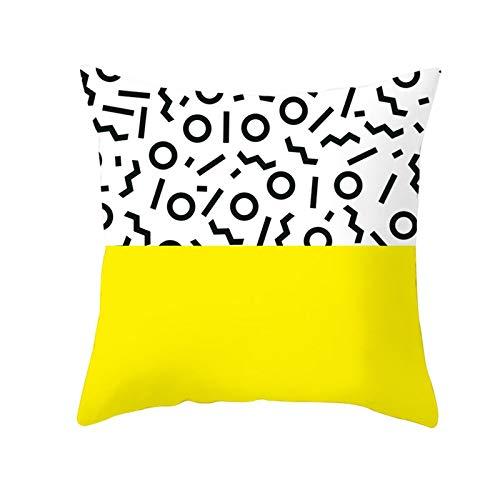 LIUXU Funda de almohada clásica de microfibra amarilla transpirable, antiarrugas, antiincrustante