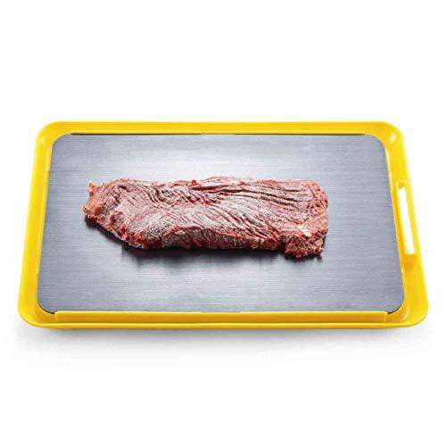 Platte Auftauen AGYH Schnell Abtauwanne, Aluminiumlegierung Lebensmittel Defrost Tray Mit Base, Einfach Zu Bedienen, 34.5x23cm