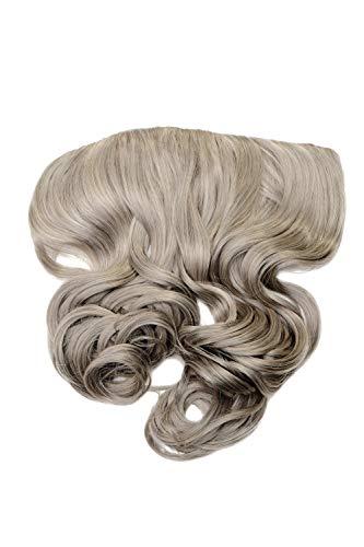 WIG ME UP - Extension clip-in large arrière de tête 5 clips bouclée gris argenté résistante à la chaleur WH5008-180C-51