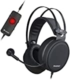 NUBWO PS4 Xbox One Casque Gaming USB avec Son Surround 7.1 avec Micro à réduction de Bruit, Casque Supra-auriculaire avec Commandes de Volume Game & Chat pour PC/Playstation 5 / Xbox 1