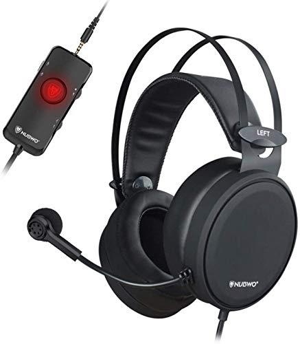 NUBWO PS4 Xbox One Casque Gaming USB avec Son Surround 7.1 avec Micro à réduction de Bruit, Casque Supra-auriculaire avec Commandes de Volume Game & Chat pour PC/Playstation 5 / Xbox 1