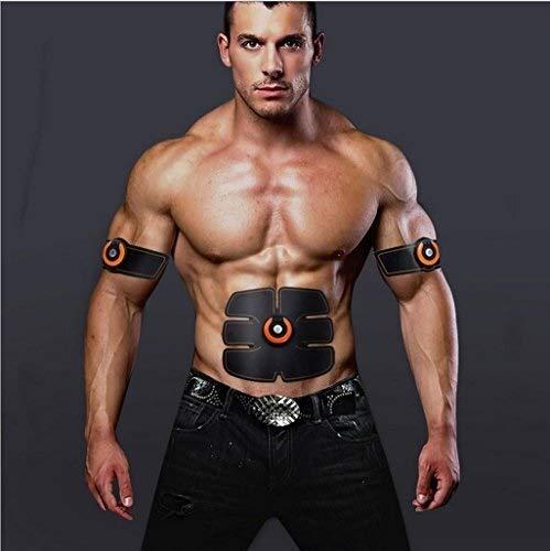 AZHom Stimolanti Elettrica Elettrica StimulatorsAbdominal Muscle Trainer Sticker, Muscolo EMS Wireless stimolatore fitness Braccio Muscolo addominale Hydrogel Pad Adatto a casa fitness e esercizi di g