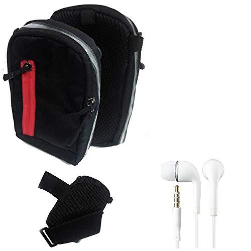 K-S-Trade Outdoor Gürte-Tasche Holster Umhänge-Tasche + Kopfhörer Kompatibel Mit Kazam Trooper 2 6.0 Schwarz Handytasche Hülle Travelbag Schutz-Hülle Handyhülle