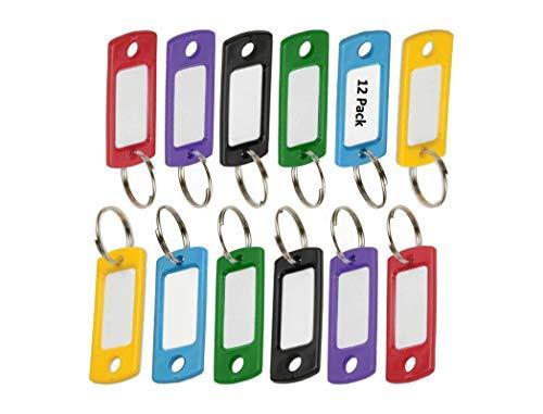 Lucky Line Etiqueta de plástico colorida flexível com anel dividido de 1,9 cm, em cores sortidas, pacote com 12 (16929)