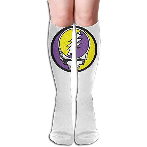 Grateiful ADead WSteelers - Calcetines largos hasta la rodilla para mujer (60 cm)