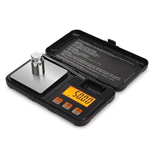 Escala de grasa corporal Escala de laboratorio alt 200g 0.01g Mini escalas digitales de precisión para el equilibrio de peso de joyería de plata esterlina de oro con pesos y pinzas de 50 g Escala elec