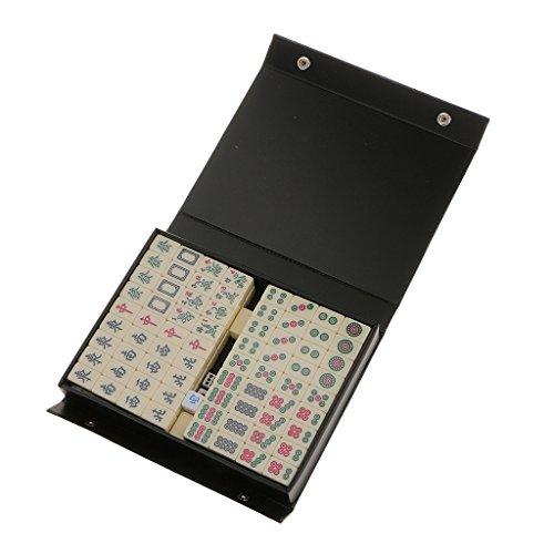 Desconocido Juguetes Juegos de Mesa Mini Mahjong Chino Tradicional Actualizado Viaje Ganador 2CM - Marfil