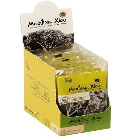 Chios Mastic Gum Small Tears 4x10 Gr (4 Packs) - 100% Fresh Original Xios (Masticha or Mastixa)