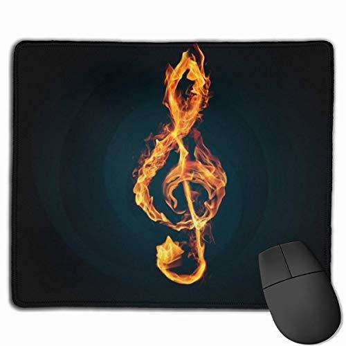 Gaming-Mauspad mit genähten Kanten, DIY-Mousepad von Fire Music Notes, rutschfeste Gummibasis, wasserdichte Matte für Spieler, Büro und Zuhause, maximale Kontrolle