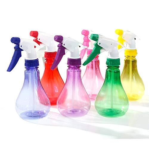 RG-FA 250ml Bouteille de pulvérisation transparente en forme de goutte d'eau à la main avec pression d'arrosage Pot de bonbons de couleur réglable Buse de jardinage Outil