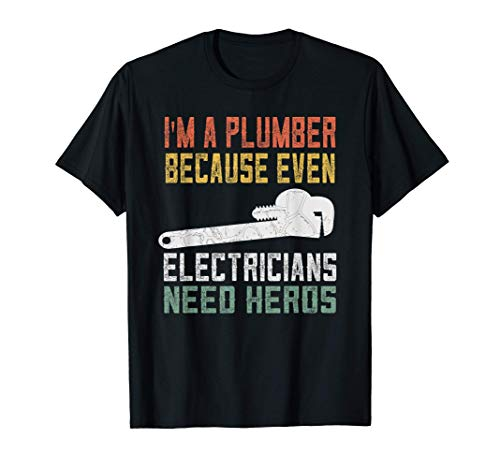 Mens Funny Plumber Gifts For Men Retro Plumbing T-Shirt