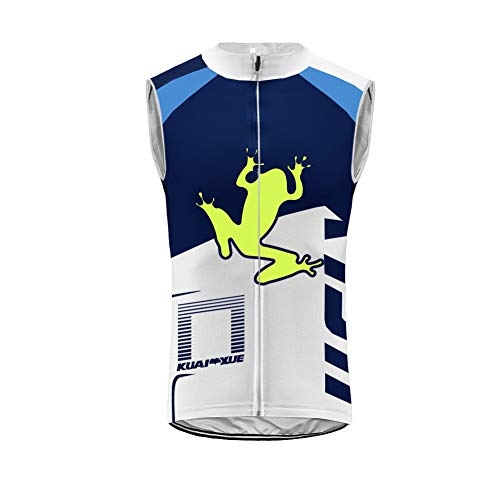 Uglyfrog Cycling Gilet, Mens Sleeveless Jersey, Windproof, Breathable, Pockets, Zippers, Vest, Running Top Clothing For Sports and Outdoor