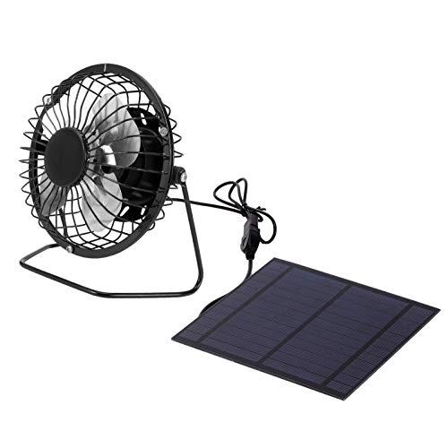 Mxzzand Protezione dell ambiente Ventola di Raffreddamento del Pannello Solare Ventola alimentata dal Pannello Solare Pannello Caricatore Solare USB per rimorchi a Effetto Serra