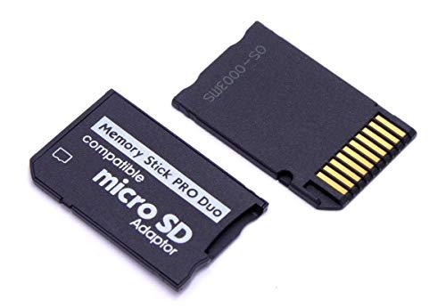 Handywest Adaptador Micro SD a Memory Stick PRO Duo Micro SDHC para cámara Sony PSP