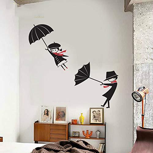 Netter spielender Regenschirm Kinder 3D Wandaufkleber Schlafzimmer Kinderzimmer Dekoration Kunst Wandbild Poster Home Decals