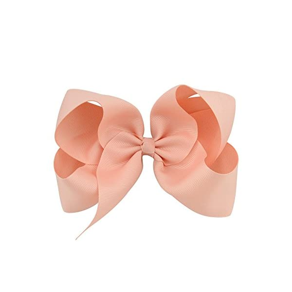 30pcs Big 6″ Hair Bows Clips Solid Color Grosgrain Ribbon Larger Hair Bows Alligator Clips Hair Accessories for Baby Girls Infants Toddlers Kids Teens Little Girls