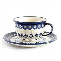 [Zaklady Ceramiczne Boleslawiec/ザクワディ ボレスワヴィエツ陶器] カップ&ソーサー-166 ポーリッシュポタリー