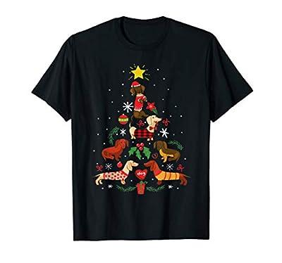 Funny Dachshund Christmas Tree Shirt Ornament Decor Gift T-Shirt