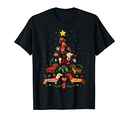 Funny Dachshund Christmas Tree Ornament Decor Gift T-Shirt