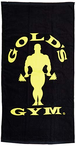 Gold´s Gym Towel Toalla, Unisex Adulto, Negro, Talla Única