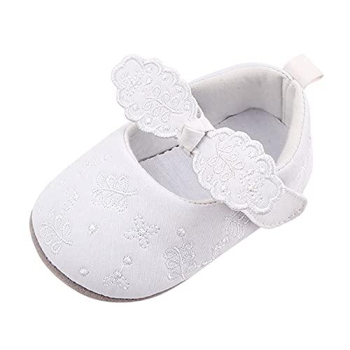 Bebé Niñas Zapatos Antideslizantes con Lazo Floral Primeros Zapatos Suaves Caminar Princesa...