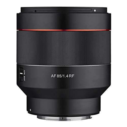 Samyang AF 85mm F1,4 RF für Canon R – leichtes und kompaktes Porträt Objektiv mit schnellem Autofokus für Canon RF Mount Festbrennweite für spiegellose Canon EOS R, EOS RP und EOS Ra DSLM Kameras