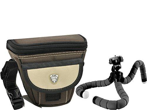 Riñonera cámara-bolso adecuado para Canon IXUS 275 hs 285 HS-estuche de cuero
