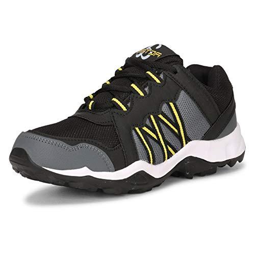 Acteo Men's Black Running Shoes - 6 UK (40 EU) (AC1032-Black)