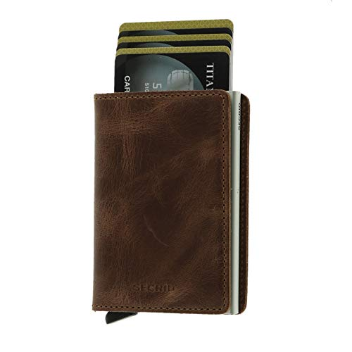 Secrid–Portemonnaie Slimwallet, Vintage-Design, Größe 10,2cm, braun (Braun) - SW-LVB