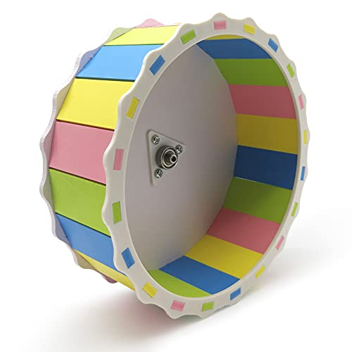 Hamster Wheel Silent Exercise Running Wheel Toys for Chinchilla Hedgehog Hamster Gerbils, Mice and Other Small Pet Diameter of 8.3 in (Color)